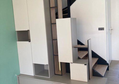 Dessous d'escaliers sur mesure
